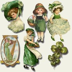 St. Patrick's Day vintage graphics