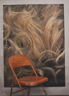 virginia overton, orang, chairs, blondes, beef, virginiaoverton, art, sculptur, brooklyn
