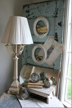 wall art, the doors, alarm clocks, cupboard doors, old clocks, lamp, cottages, homes, door frames