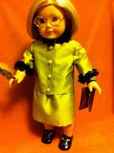 Rita Skeeter's OstrichTrimmed Green Suit by DressMeMagic on Etsy, $35.00