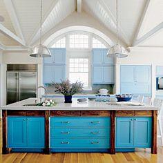 Using Color in the Kitchen | Splash of Color | CoastalLiving.com
