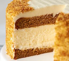 Juniors 7 Pumpkin Spice Layer Cake Cheesecake - a new family holiday tradition!