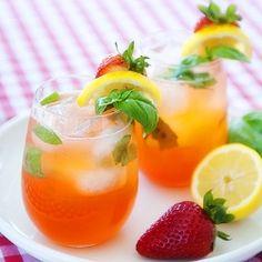 Vodka Strawberry Basil Lemonade recipe