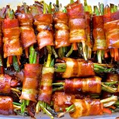 Honey bacon rolls