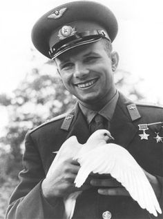 Yuri Gagarin (March 9 1934 – March 27 1968) was a Soviet pilot and cosmonaut. He was the first human to journey into outer space, when his Vostok spacecraft completed an orbit of the Earth on April 12,1961.