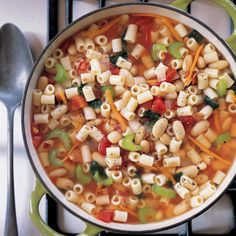 Get the recipe for Hearty Pasta and Bean Soup