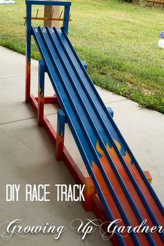 DIY Race Track #race car #race car birthday party #cars birthday party