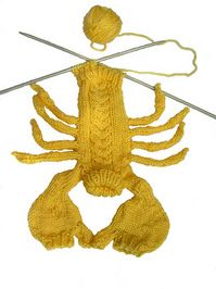 (lobster shaped) sweater... haha!