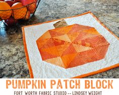 Fort Worth Fabric Studio: Pumpkin Patch Block Tutorial