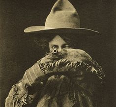 A True Girl of the West', postcard of a cowgirl, printed by Geo B. Cornish, Arkansas City, Kansas, 1907