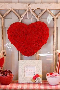 Felt Pinked Valentine Heart