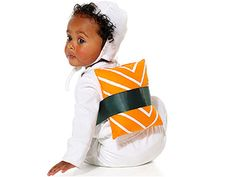 little sushi costume. Okay, all my friends with little ones need to do this. :)