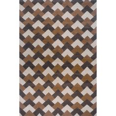 Orleans Brown Contemporary Rug