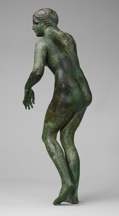 ca. 150–100 BC. Aphrodite in the process of undressing. Based on the most renown classical sculpture: Praxiteles' 4th BC.