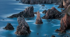 Rugged sea stacks of the Isle of Lewis, Scotland -- Jim Richardson/Corbis