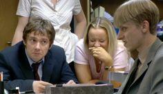Making fun of Gareth in The Office: Season 2.