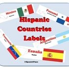 """Teacher Review: """"Printed and laminated these as an alternative to buying a ton of Spanish flags. Put a map in the center of the display and surrounded it with the printed laminated labels. Great color and size for a wall in a Spanish classroom. """""""