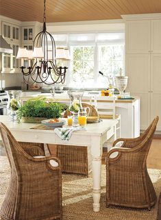sunny, radiant kitchen - manchester tan HC-81 (cabinets & trim), ivory white 925 (wall), etruscan AF-355 (ceiling)