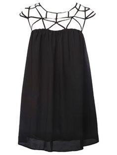Black caged dress