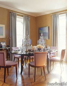 dining rooms, paint color, dine room, dining chairs, wall color, dining room decorating, room decorating ideas, dining room design, color scheme