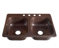 """33"""" x 22"""" Copper Drop-In Kitchen Sink at Menards, this would look great at the cabin."""