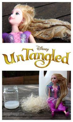 How to untangle dolls hair. ~ Danya Banya