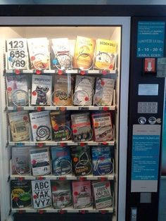 """""""Máquinas expendedoras de libros. Lo último."""" -- (Book vending machines. The ultimate.) -- The language on the machine is Turkish, but no clue as to the machine's actual location."""