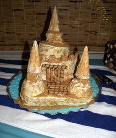 The mommy-to-be want a sandcastle cake so that's what she gets. And she loved it.