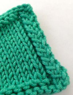 Hatch stitch technique for finishing edges