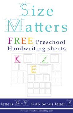 Free Preschool Handwriting Sheets