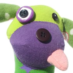 Handmade Upcycled Plush Funny Dog Sock Toy Stuffed by Fuffalumps, $60.00