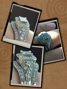 My Vintage wedding ring set .....my hubby did good.