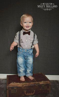 boy bow tie suspenders set, brown bow tie suspenders set, baby boy suspenders, baby boy photography prop on Etsy, $29.00