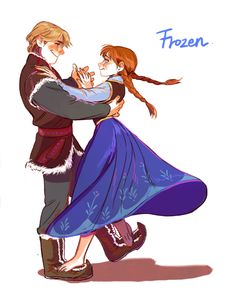 Kristoff and Anna <3
