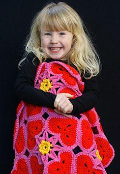 Free pattern hearts blanket