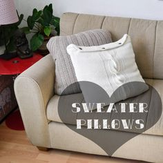 DIY sweater pillows.