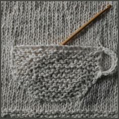 Teacup Knitted Pocket Tutorial