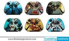 Custom Skins for your Xbox One Controllers & Controller Stands! Marketing Instincts creates the coolest swag! Call us for your next project of branded merchandise! #swag #coolestswag #marketinginstincts #...#xbox #xboxone #controller