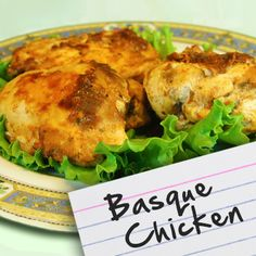 Recipes for Diabetes: Basque Chicken