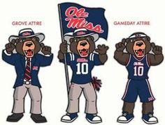 Ole Miss - University of Mississippi Rebels - Rebel Bear mascot ? ? ? ? ?