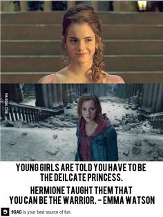 harri potter, emma watson, harry potter, hermione granger, girly girls, quot, warrior princess, young girls, role models
