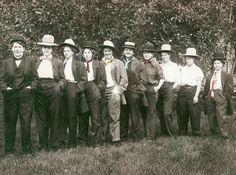 Women Dressed as Men Ties Hats fun Girls Lesbian interest Tinted Vintage photo Print. $24.00, via Etsy.