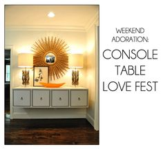 livingroom idea, white consol, entryway idea