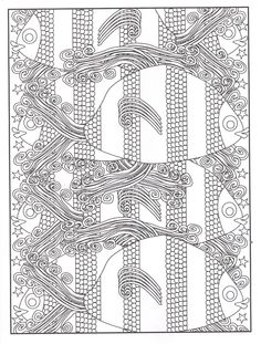 Fish Frenzy 3D Coloring Book, Dover Publications