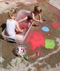Just add water! RoseArt Suprise Inside Sidewalk Chalk and water make outdoor fun last longer. #RoseArt