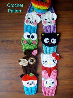 Crochet Hello Kitty and Friends Cupcake Rainbow Scarf