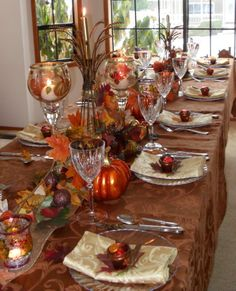 Thanksgiving Tablescape - Party Planning - Party Ideas - Cute Food - Holiday Ideas -Tablescapes - Special Occasions And Events - Party Pinching