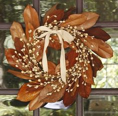 another magnolia leaf wreath