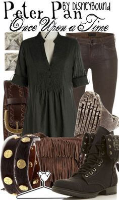 disney bound once upon a time, fashion, style, once upon a time disney bound, cloth, disneybound, inspired outfits, boots, peter pan