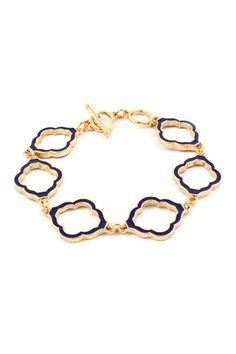 blue bracelet, accessori, bracelets, fashion drug, jewelri idea, fashion art, quatrefoil bracelet, beauti ornament, cutout bracelet